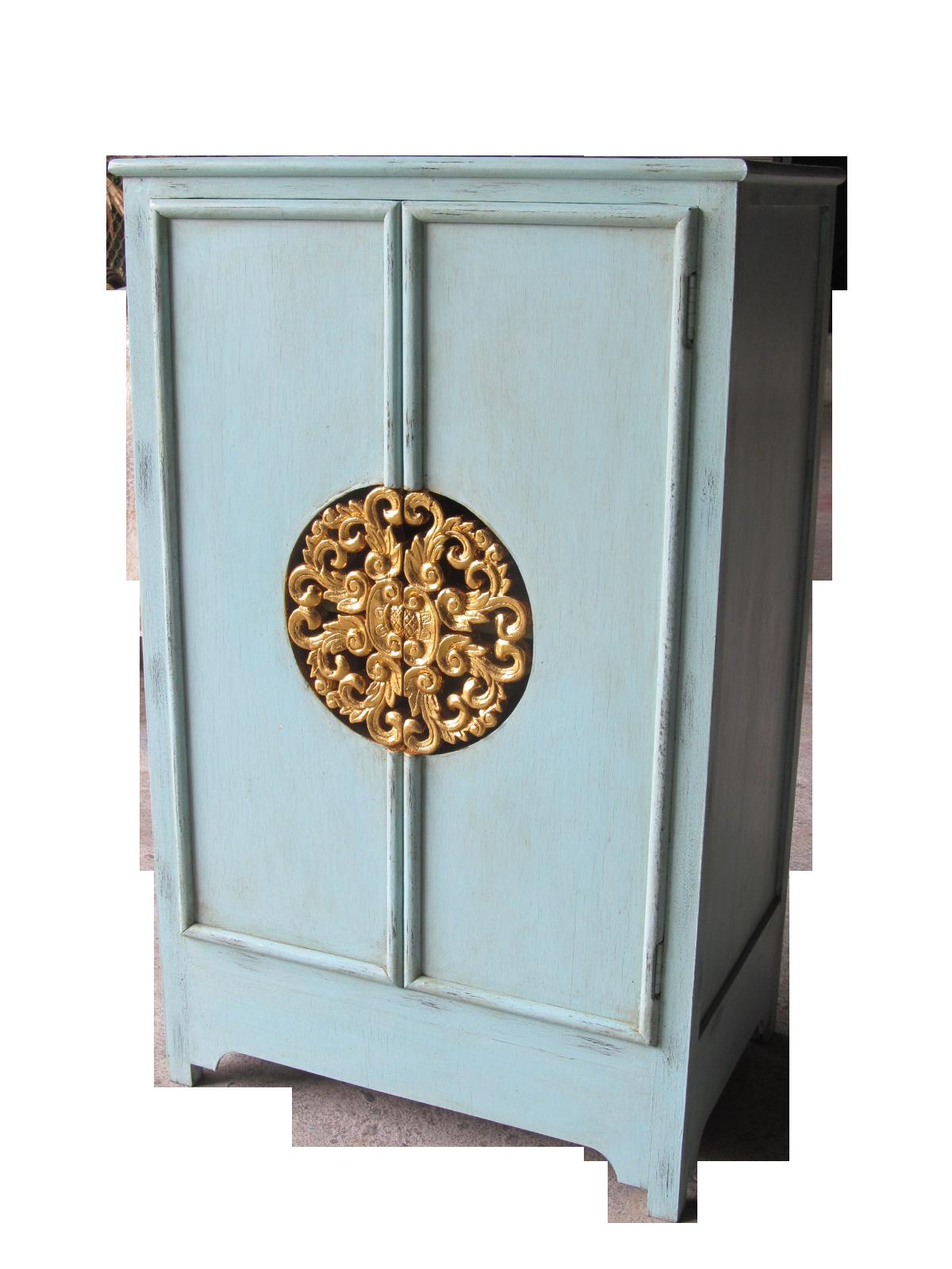kommodenschrank 39 royale thai 39 t rkis gold m bel. Black Bedroom Furniture Sets. Home Design Ideas