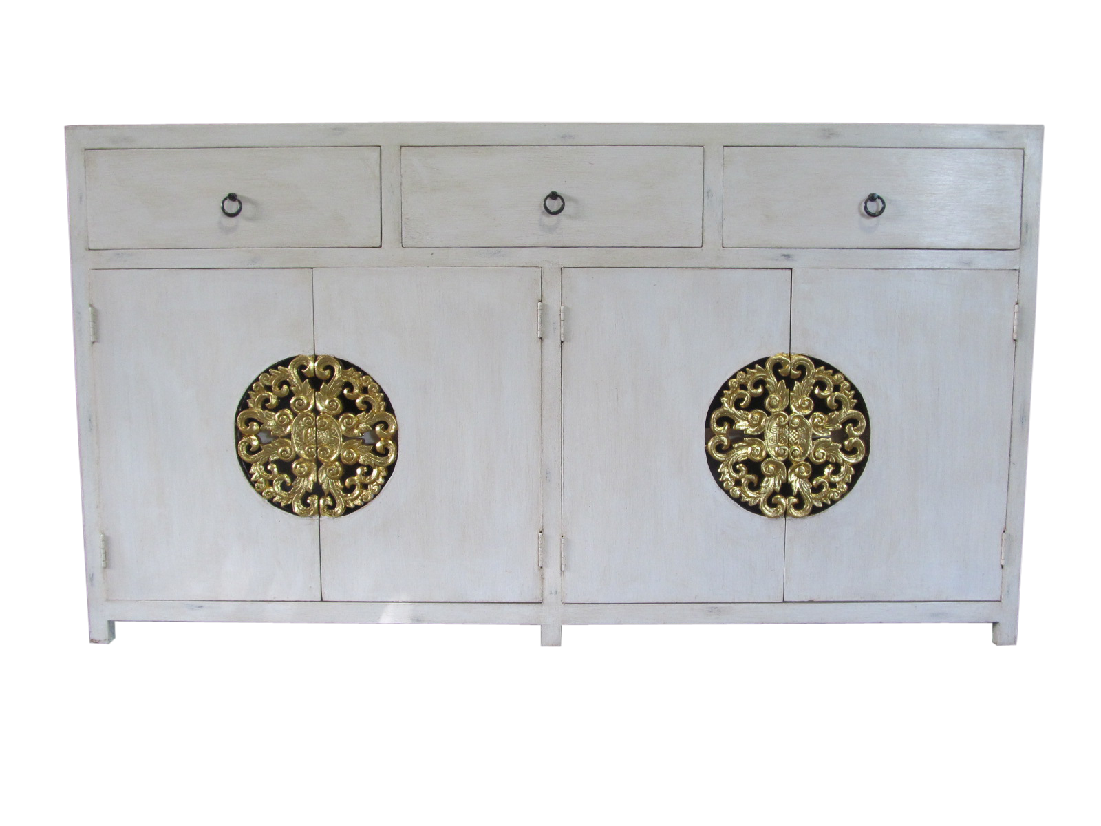 Sideboard Royale Thai Weiss Gold Mobel