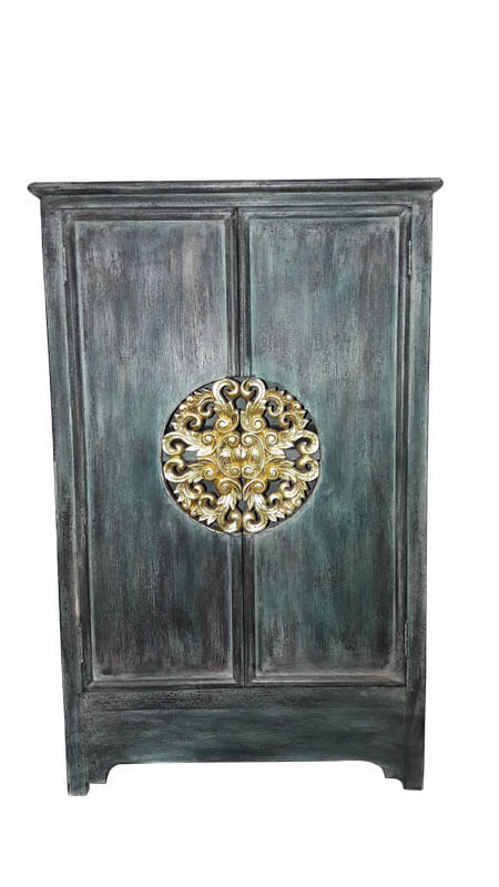 kommodenschrank 39 royale thai 39 antik gr n schr nke. Black Bedroom Furniture Sets. Home Design Ideas